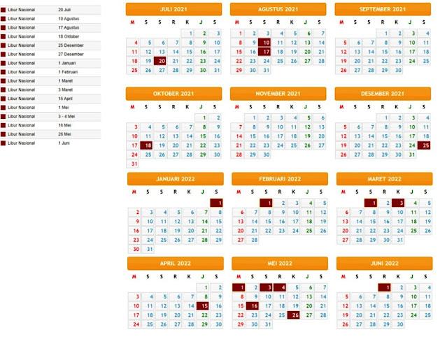Terbaru Kalender Pendidikan Tahun Pelajaran 2021/2022 Provinsi Maluku Utara