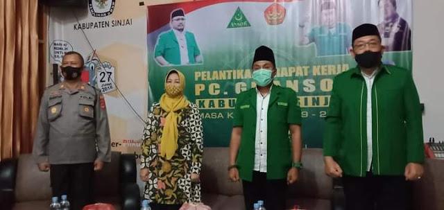 Wabup Hadiri Pelantikan GP Ansor Sinjai