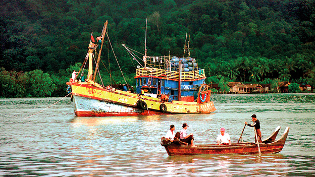 Myeik Harbor in the Andaman Sea