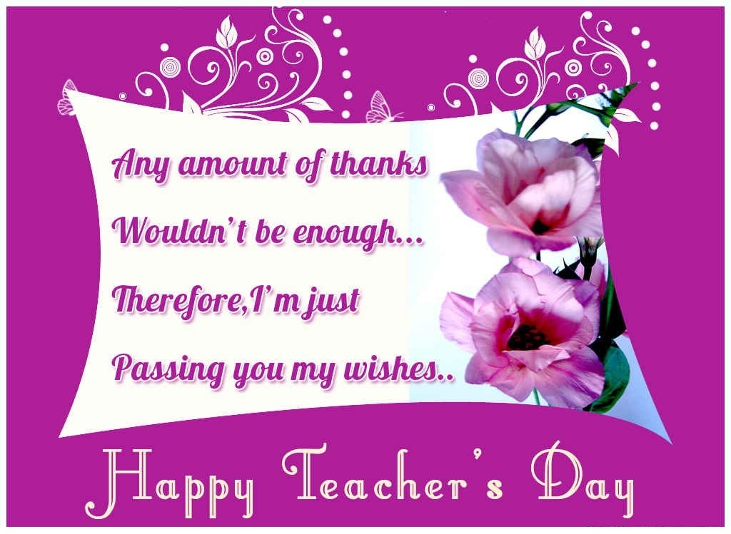Teachers Day Cards and Greetings Best HD Wallpapers For free – Birthday Greeting Card for Teacher