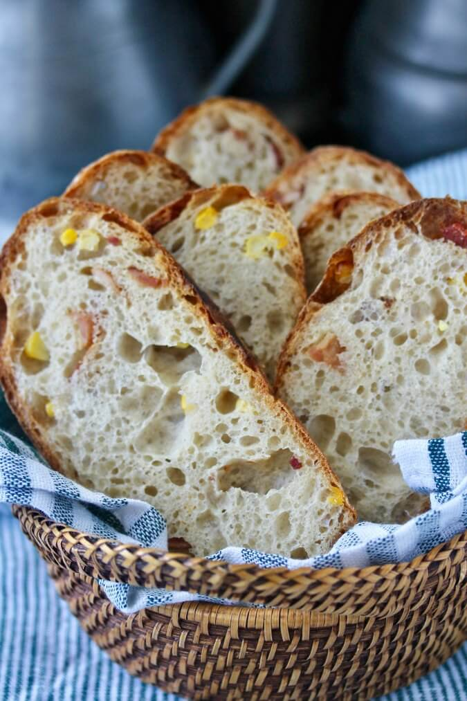 Bacon Country Bread with Corn slices