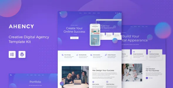 Best Creative Digital Agency Elementor Template Kit