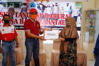 Penyaluran paket donasi di Kabupaten Bantaeng