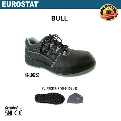 Sepatu Safety Pendek Tali Eurostat Bull