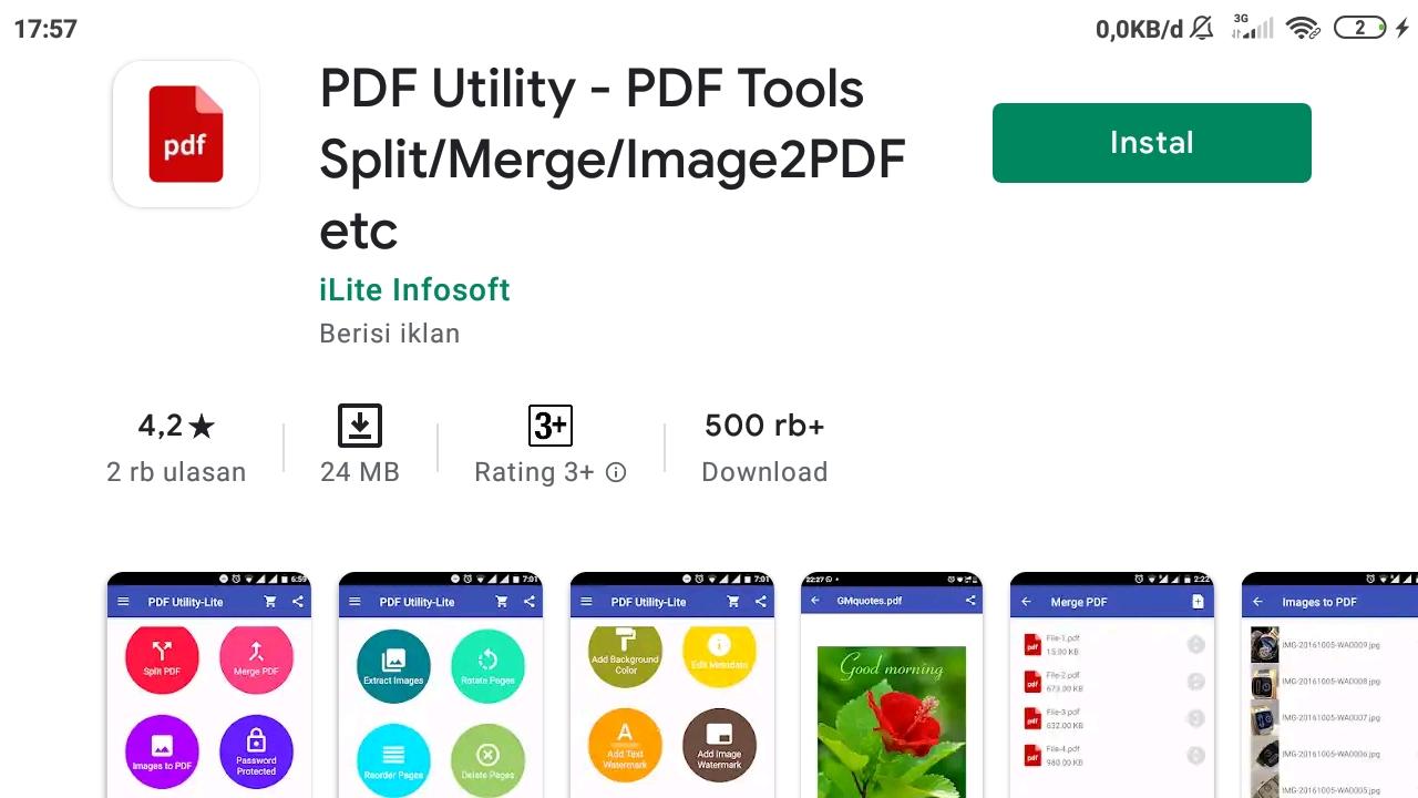 PDF Utility di Google Play Store