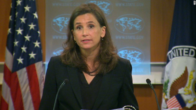 State Department spokeswoman Elizabeth Trudeau