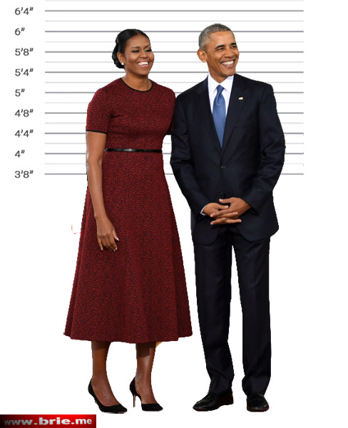Barack and Michelle Obama height comparison