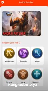 APK MOD ANDR3I Patcher Unlock All Skin Hero Mobile Legends