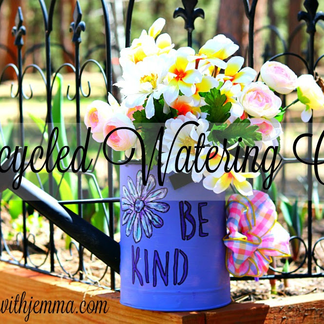 Ten On The Tenth Hop| Recycled Mother's Day Watering Can