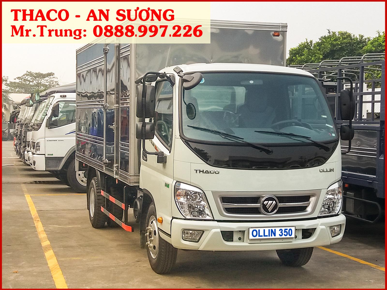 Xe tải Thaco Ollin 350 thùng kín, tải trọng 2.150 kg | Giá xe Ollin 350