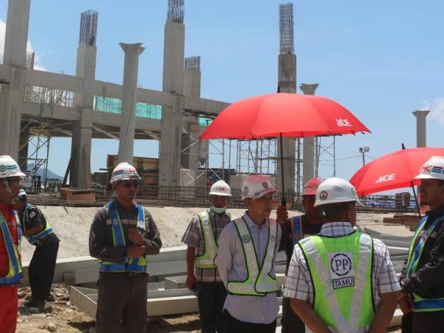 Said Assagaff Tinjau Pembangunan Rumah Sakit Umum Pusat Terpadu (RSUPT) Ambon