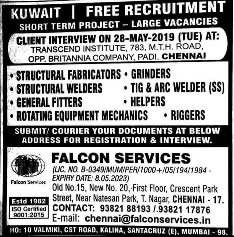 50+ NEW GULF JOB VACANCIES - KSA , KUWAIT, ROMANIA, UAE