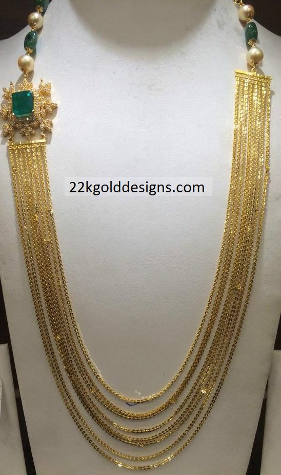 Fancy Gold Chandraharam