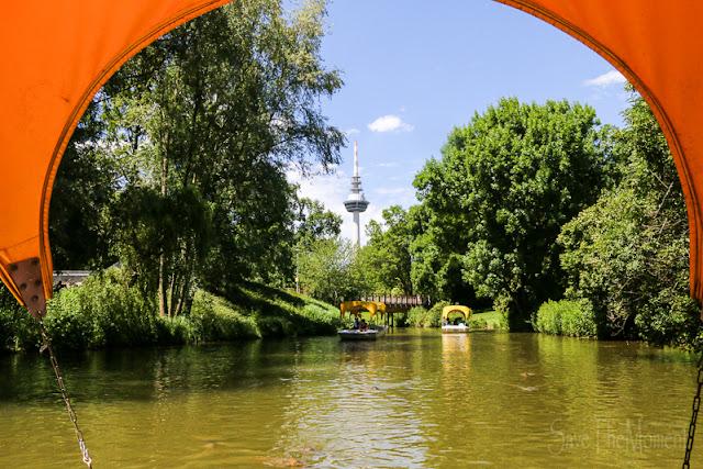 Godolettas Boote im Luisenpark Mannheim