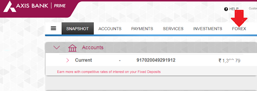axis bank foreign inward remittance form
