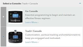 Life Fitness F3 treadmill Console