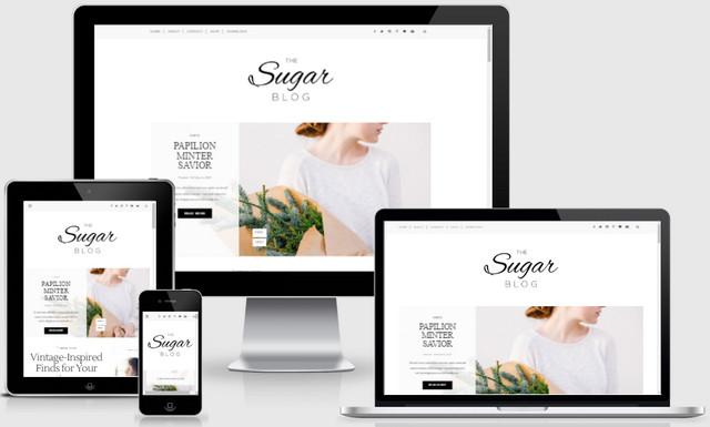 Sugar Minimalist Responsive Blogger Templates