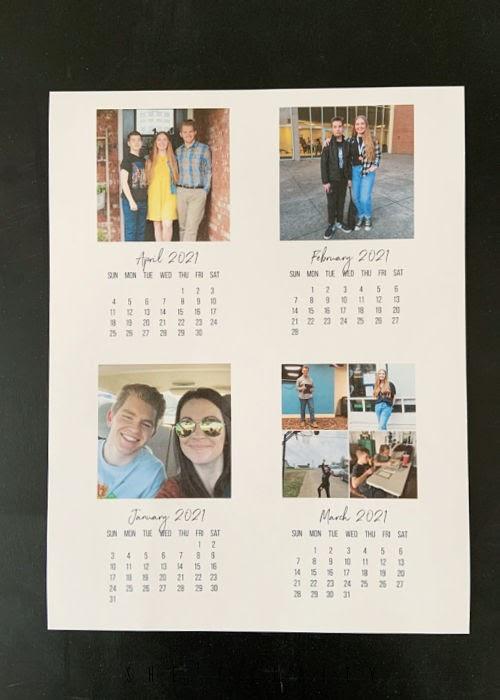 How to make a photo calendar