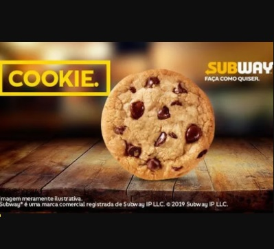 Cookie Grátis Subway 2021