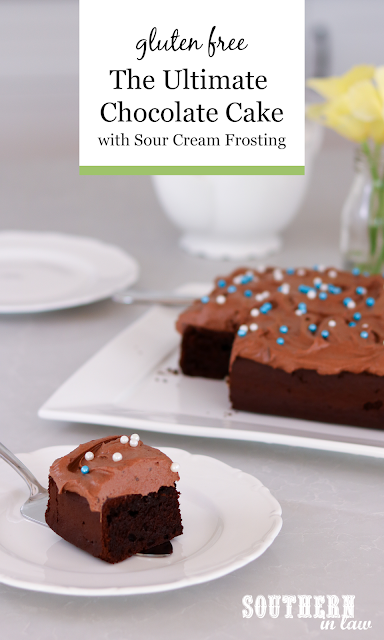 The Ultimate Chocolate Cake Recipe with Sour Cream Frosting Gluten Free