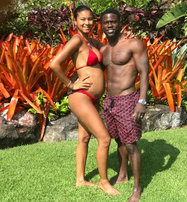 Kevin Hart Glowing Vacation Pics With Dad and Pregnant Wife Eniko Parrish, See her Growing Baby Bump!