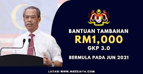 Geran Khas Prihatin 3.0: Bantuan Tambahan RM1,000 Bermula Jun 2021