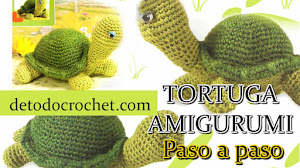 Patrones de Tortuga Amigurumi para tejer paso a paso