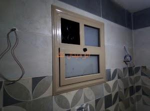 تركيب شبابيك الوميتال للمطبخ والحمام لون 1019
