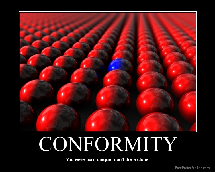 conformity as a huge problem in modern society Stereotypes: a big problem in our modern society i personally hate stereotypes i dislike the fact that people think i should act one way because of my sex, personality, or nationality.
