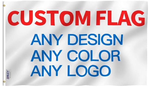 Anley Single Sided Custom Flag 3x5 Foot Customized Flags Banners