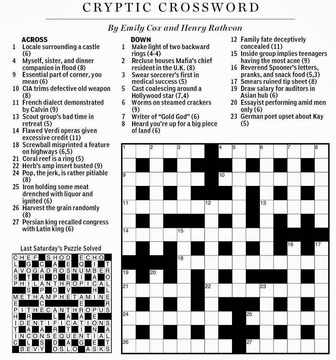 Crossword Puzzles For French   Wiring Diagram Database