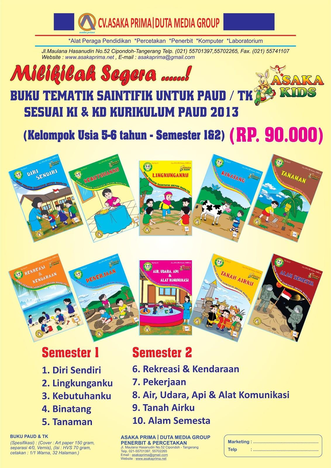 Katalog Buku Paud Tk 2017 Brosur Buku Tk Penerbit Asaka Mainan