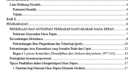Kumpulan Contoh Daftar Isi Skripsi Terbaru Lengkap Mastimon Com