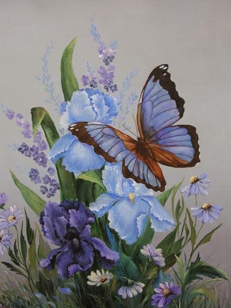 Galeri Online Khusus Lukisan Berkelas Lukisan Kupu Kupu