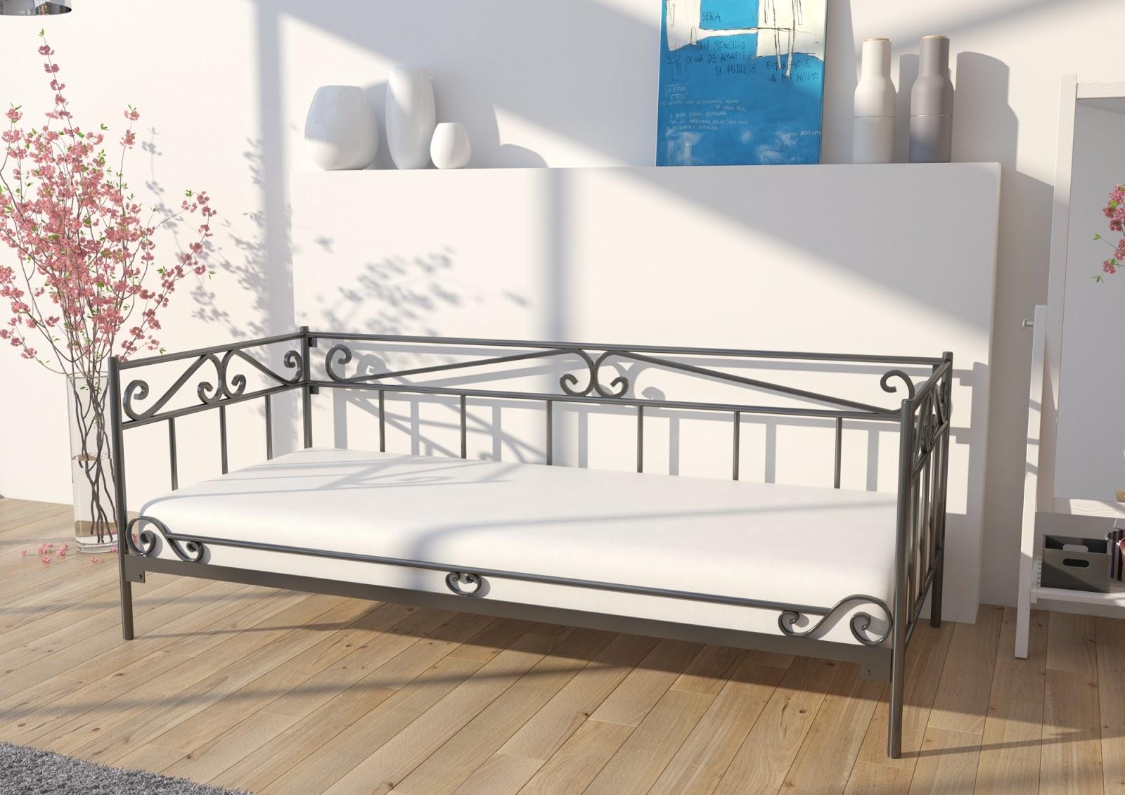 Łóżko metalowe sofa wzór 21