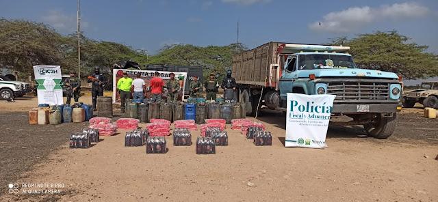 Contrabando de $60 millones se incautó en Maicao, dos capturados