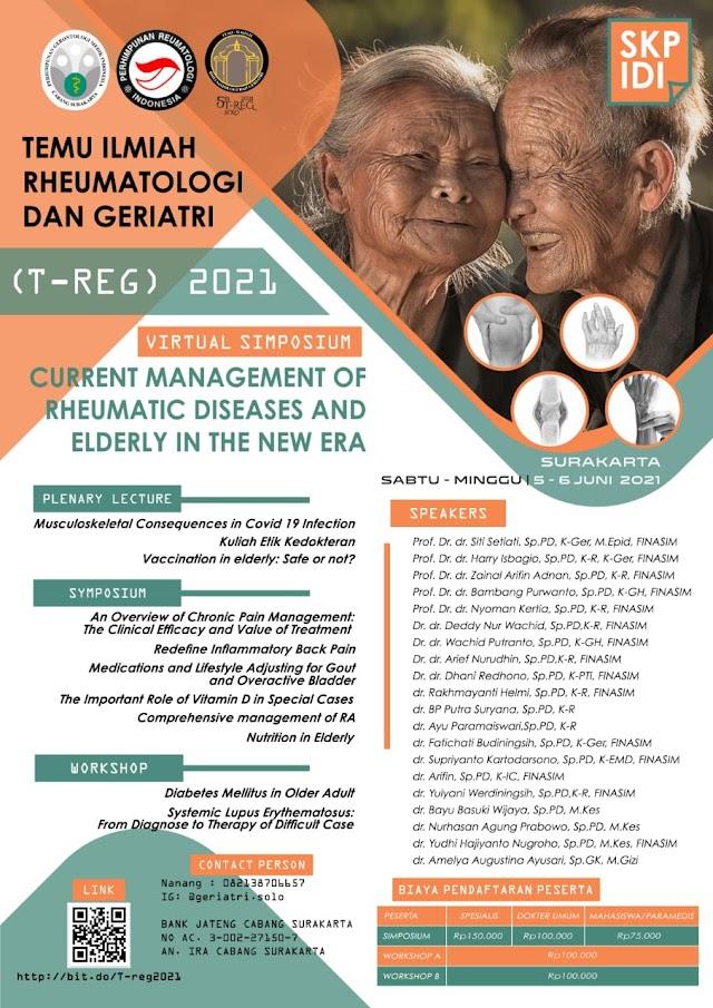 (SKP IDI) Simposium dan Workshop Nasional *TEMU ILMIAH RHEUMATOLOGI DAN GERIATRI (T-REG) 2021*