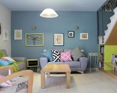 warna pastel pada ruangan