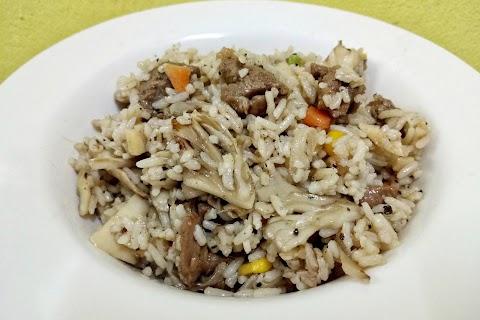 Resepi Nasi Goreng Cendawan Daging Black Pepper