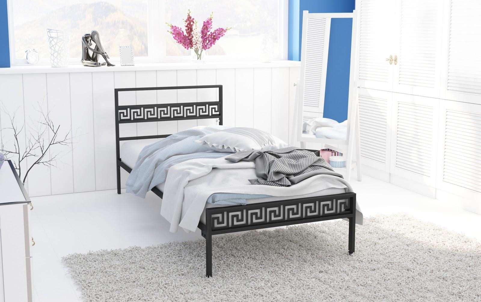Łóżko metalowe wzór 9