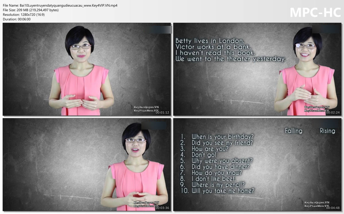 Video hướng dẫn luyện nghe tiếng Anh