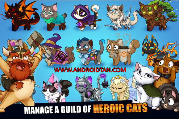 Download Castle Cats Mod Apk v2.3 Unlimited Gold Gems Android Terbaru