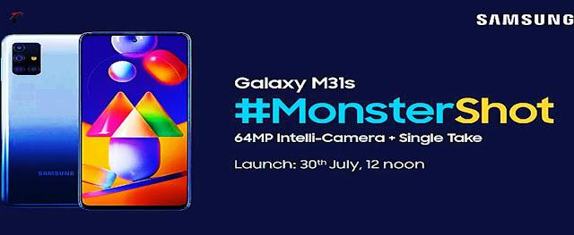 Samsung M31s Bharat में 31 July को आएगा