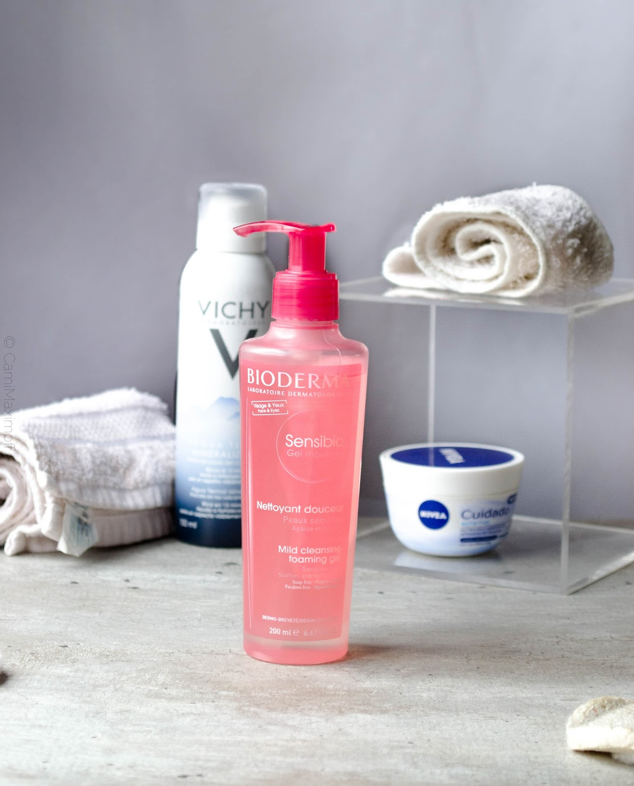 review gel moussant sensibio bioderma