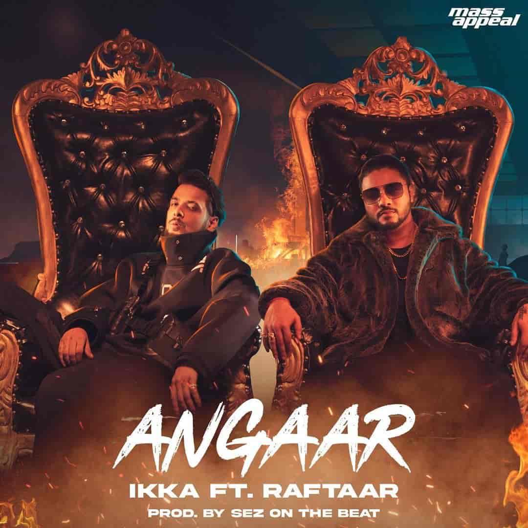 Angaar Rap Song Image Features Ikka and Raftaar