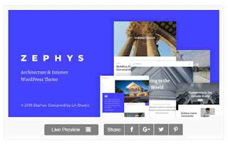 Download Theme Wordpress Zephys Architecture Interior