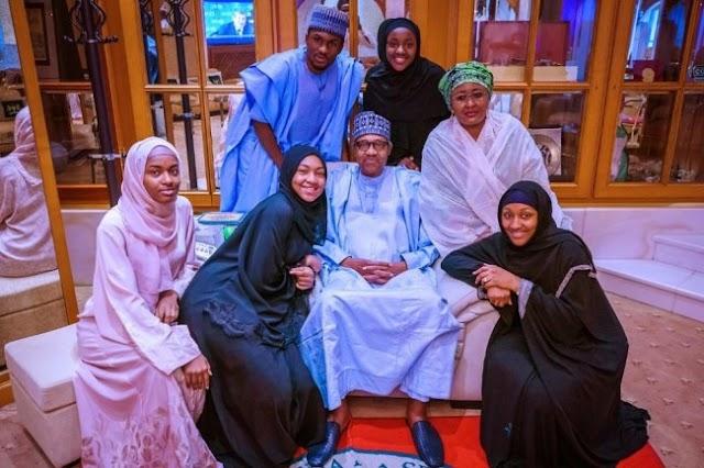 President Muhammadu Buhari celebrates Eid Mubarak with family (Photos)