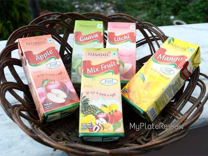 My Plate Review: Product review: Patanjali Fruit Juices