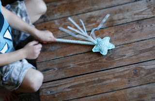 Crochet magic wand handmade by TomToy. Fairy Princess Girl accessory