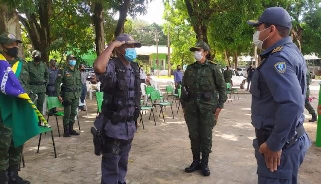 POLÍCIA MILITAR REALIZA CERIMÔNIA DE TROCA DE COMANDO DO BATALHÃO AMBIENTAL